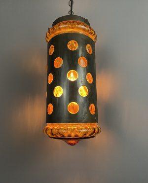mid century amber glass