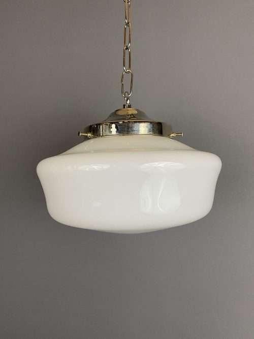 white glass chapel light