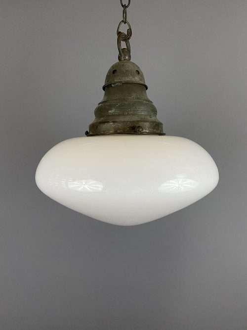 ovaloid opaline pendant light