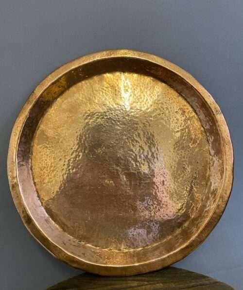 beaten copper tray